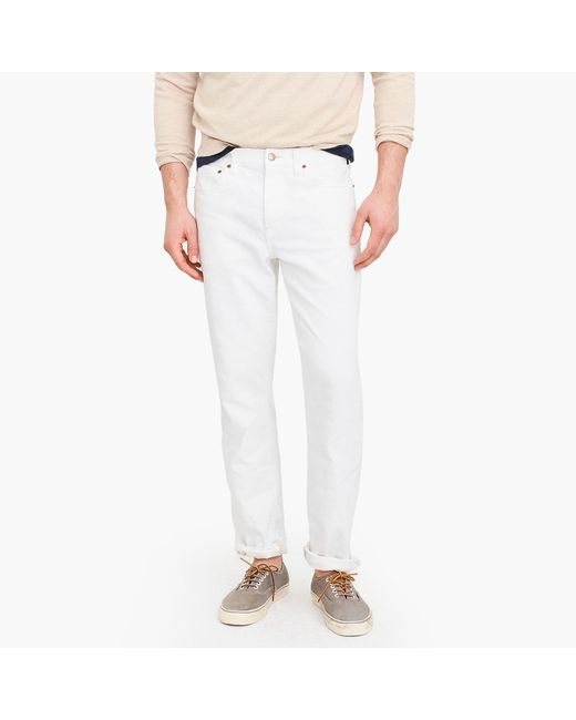 J.Crew 770 Straight-fit Stretch Jean In White for men