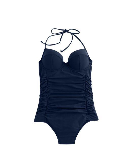 J.Crew | Black D-cup Halter Underwire One-piece Swimsuit | Lyst