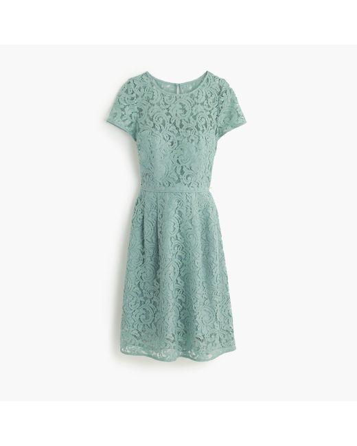 J.Crew | Green Alisa Dress In Leavers Lace | Lyst