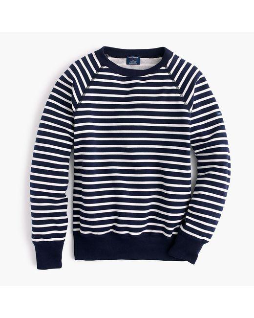 J.Crew - Blue Saint James Striped Sweatshirt - Lyst