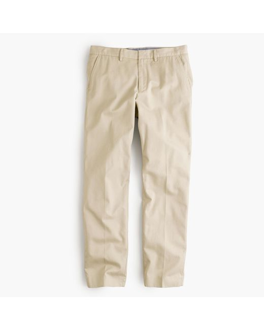 J.Crew   Natural Bowery Slim Pant In Cotton Twill for Men   Lyst