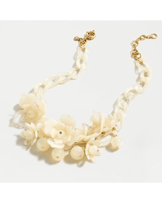 J.Crew Natural Acetate Blooming Necklace In Tortoise