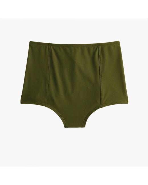 J.Crew Green High-waisted Bikini Bottom