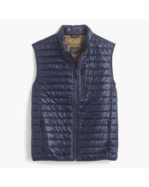 J.Crew | Blue Primaloft Vest for Men | Lyst