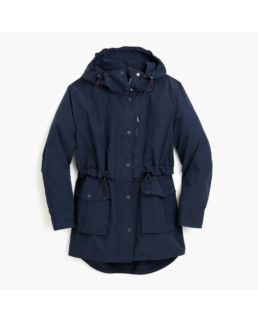 J.Crew Blue Perfect Rain Jacket