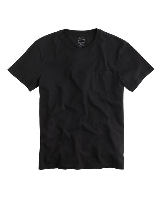 J.Crew - Black Slim Broken-in Pocket T-shirt for Men - Lyst