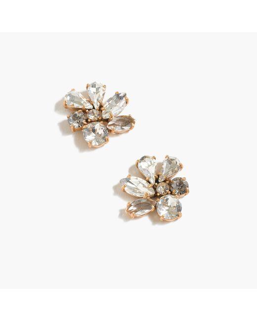 J.Crew - Metallic Cluster Stone Earrings - Lyst