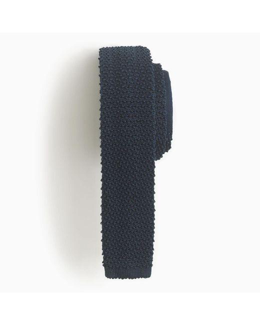 J.Crew | Blue Italian Silk Knit Tie for Men | Lyst