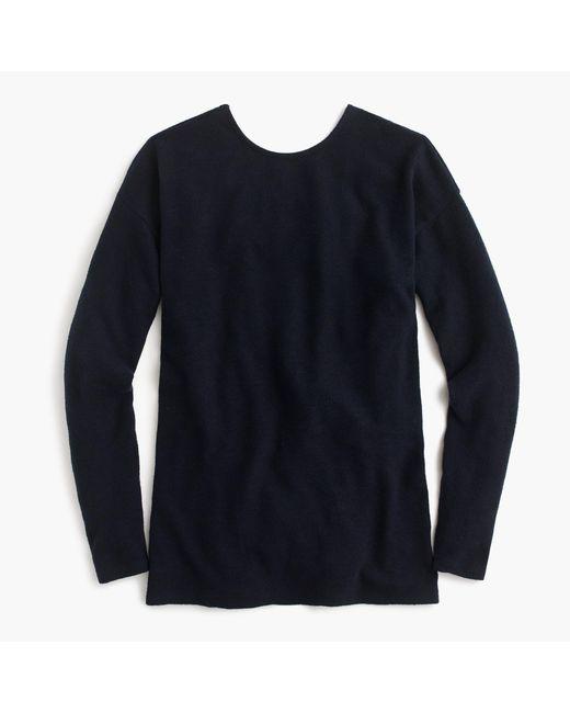 J.Crew - Blue V-back Long-sleeve Tunic - Lyst