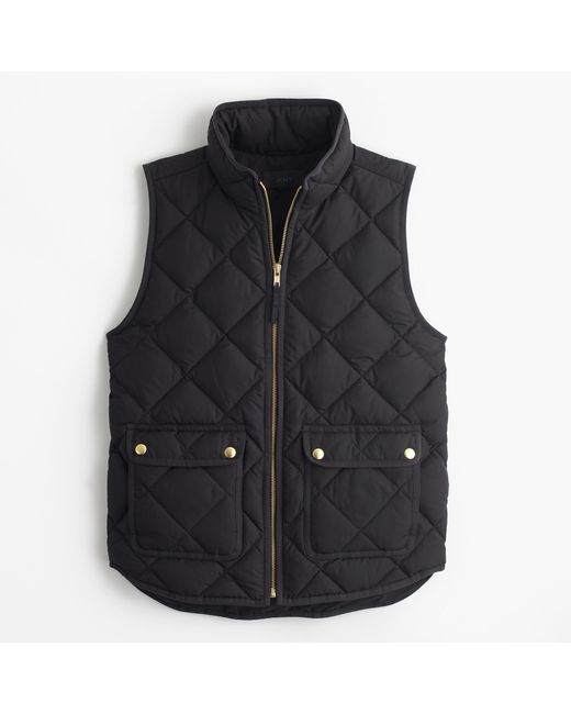 J.Crew | Black Excursion Quilted Down Vest | Lyst