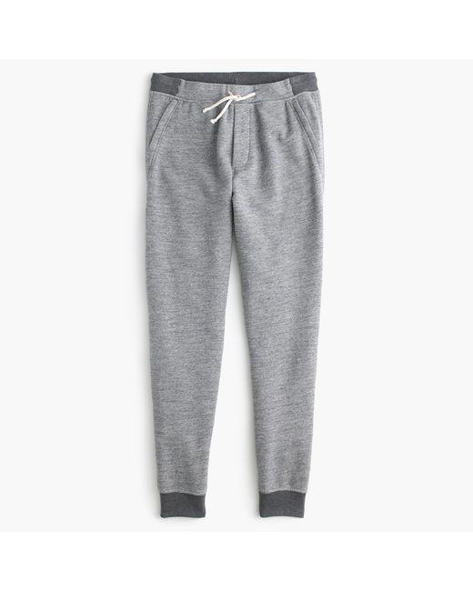 J.Crew | Gray Slim Classic Zip-pocket Sweatpant for Men | Lyst