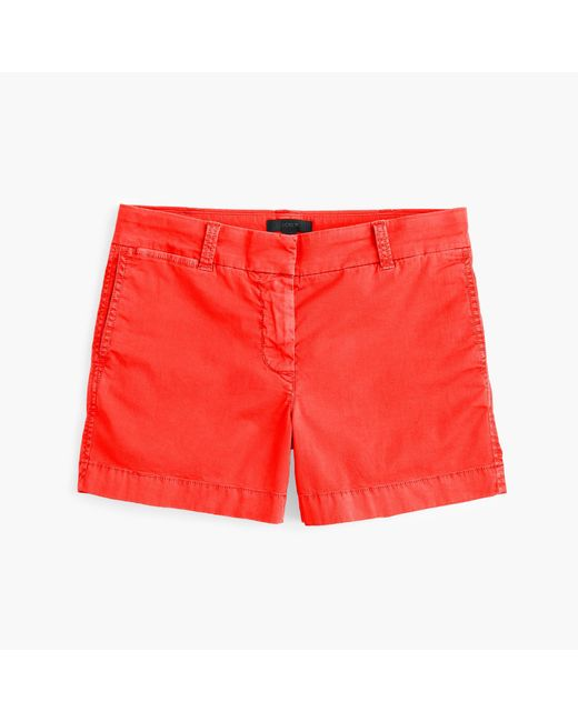"J.Crew | Red 4"" Stretch Chino Short 