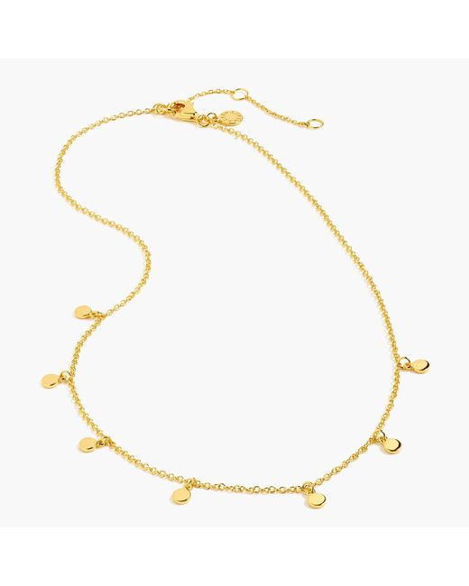 J.Crew - Metallic Demi-fine 14k Gold-plated Dot Charm Necklace - Lyst