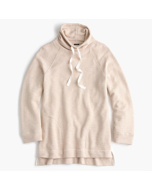 J.Crew | Natural Turtleneck Tunic Sweatshirt | Lyst