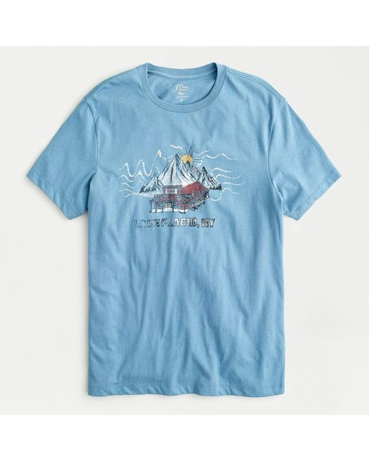 J.Crew Blue Bar Mountain Graphic T-shirt for men