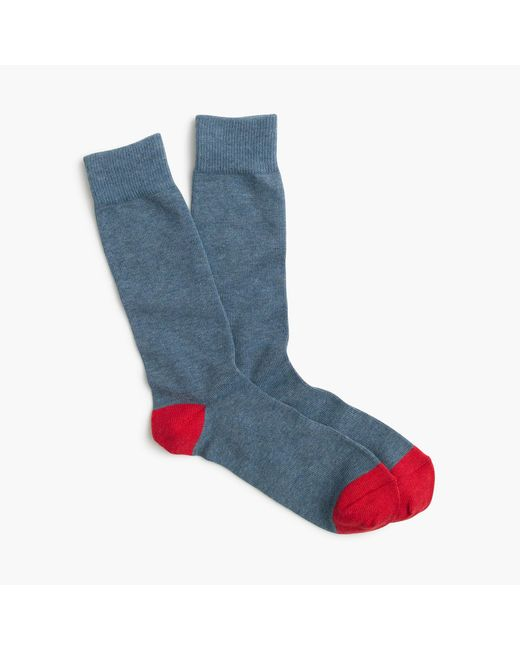 J.Crew - Blue Solid Cotton Socks for Men - Lyst