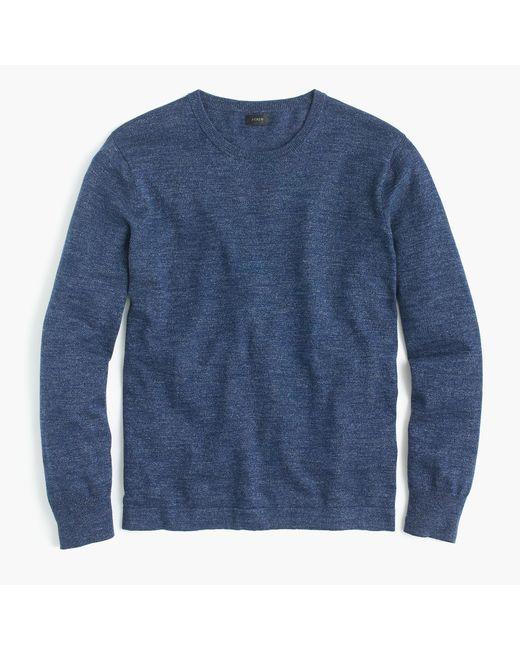 J.Crew - Blue Cotton Crewneck Sweater for Men - Lyst