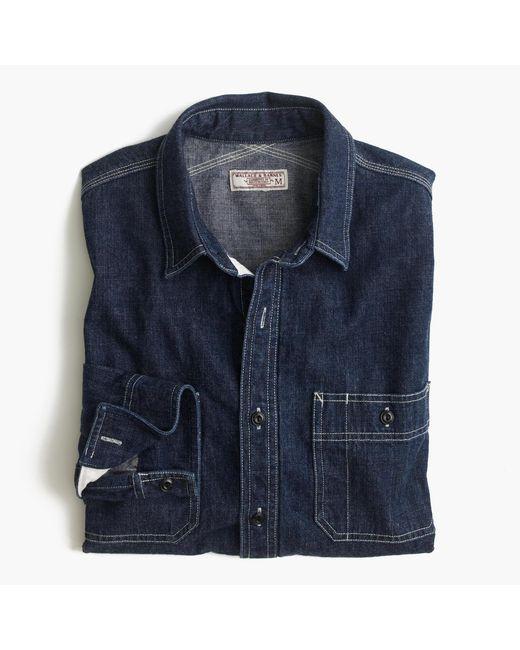 J.Crew | Blue Wallace & Barnes Selvedge Denim Shirt for Men | Lyst