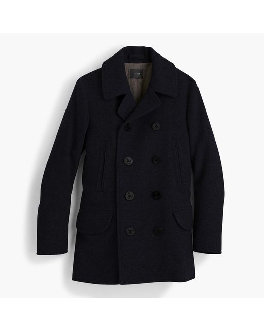 J.Crew | Blue Dock Peacoat With Thinsulate for Men | Lyst