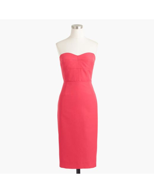 J.Crew | Pink Rory Strapless Dress In Classic Faille | Lyst