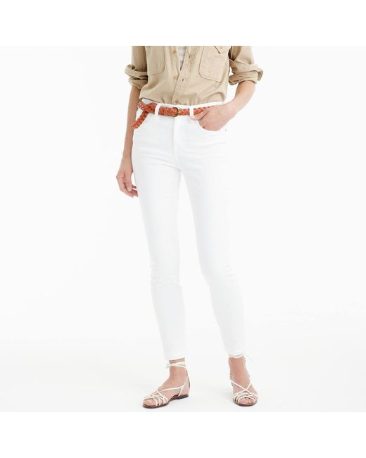 """J.Crew - Tall 9"""" Lookout High-rise Jean In White - Lyst"""