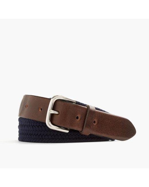 J.Crew | Blue Braided Web Belt for Men | Lyst