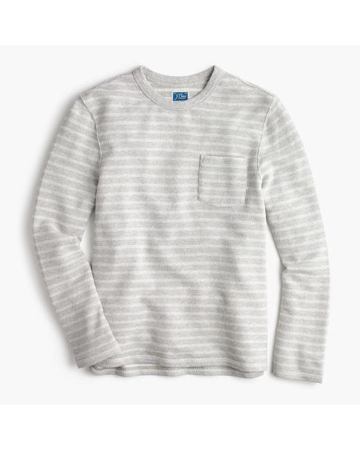 J.Crew | Gray Striped Sweatshirt In Grey for Men | Lyst
