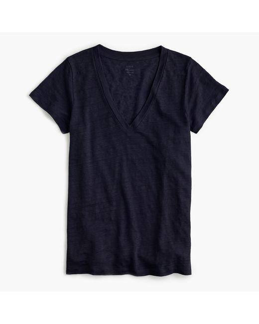 J.Crew | Blue New Linen T-shirt | Lyst