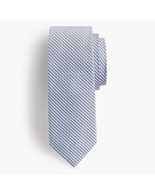 J.Crew | Blue English Silk Tie In Seersucker for Men | Lyst
