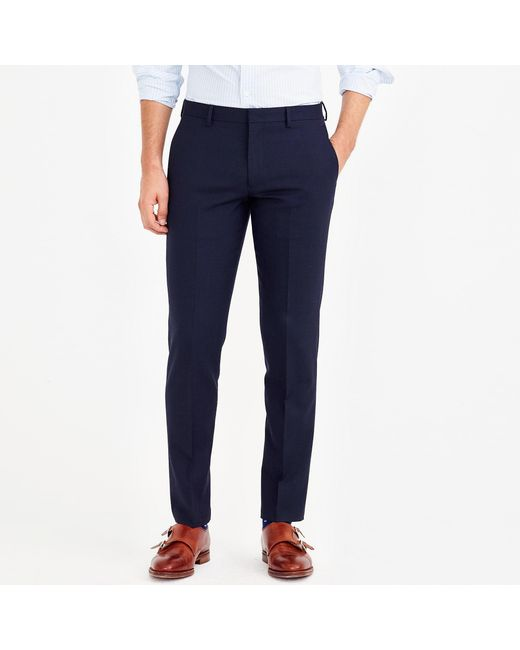 J.Crew - Blue Slim-fit Thompson Suit Pant In Voyager Wool for Men - Lyst