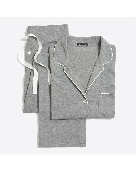 J.Crew Gray Knit Pajama Set