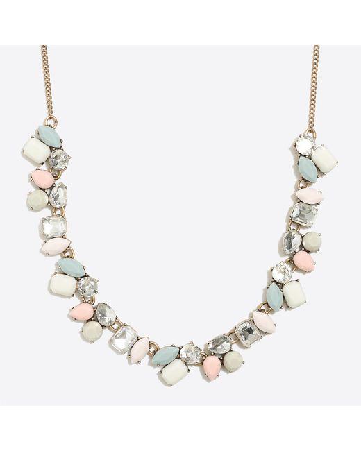J.Crew - Multicolor Cascading Gemstone Statement Necklace - Lyst