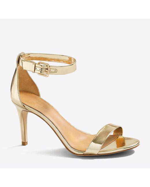 J.Crew - Metallic High-heel Sandals - Lyst