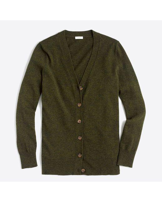 J.Crew - Green V-neck Cardigan Sweater - Lyst