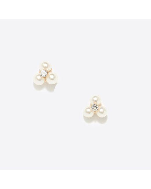 J.Crew - Multicolor Three Pearl Stud Earrings - Lyst