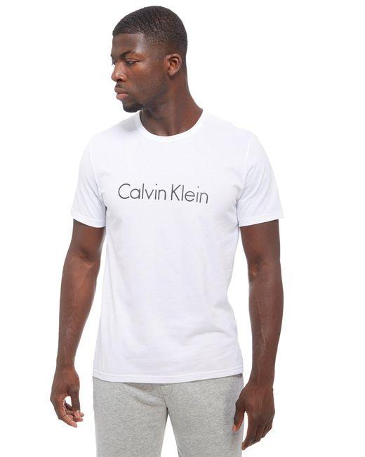 Calvin Klein | White Core T-shirt for Men | Lyst