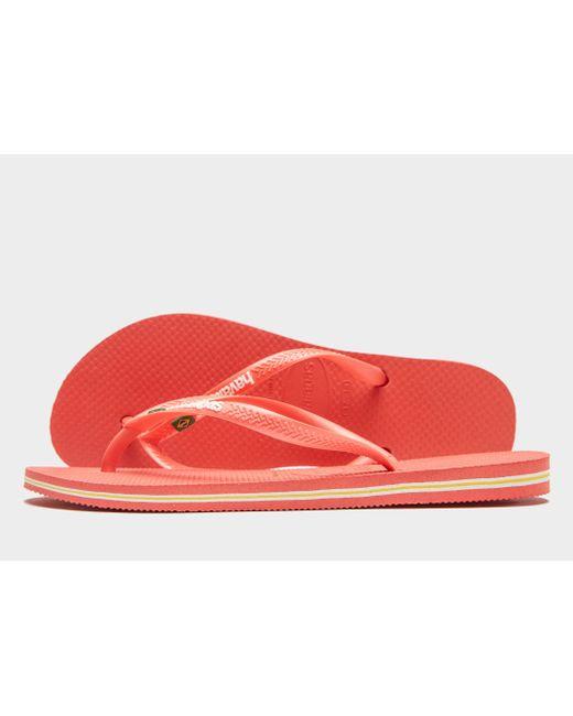 Havaianas - Pink Slim Brasil Flip Flops - Lyst