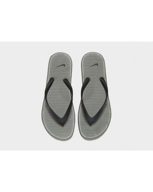 9b79a435654 ... Nike - Gray Solarsoft Ii Flip Flops for Men - Lyst ...