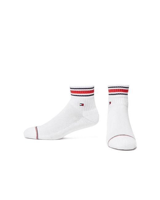 Tommy Hilfiger White Two Pack Quarter Socks for men