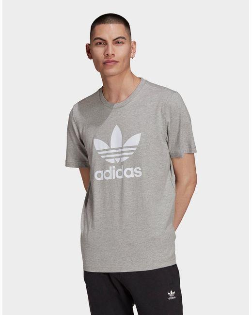 Adidas Originals Gray Adicolor Classics Trefoil T-shirt for men