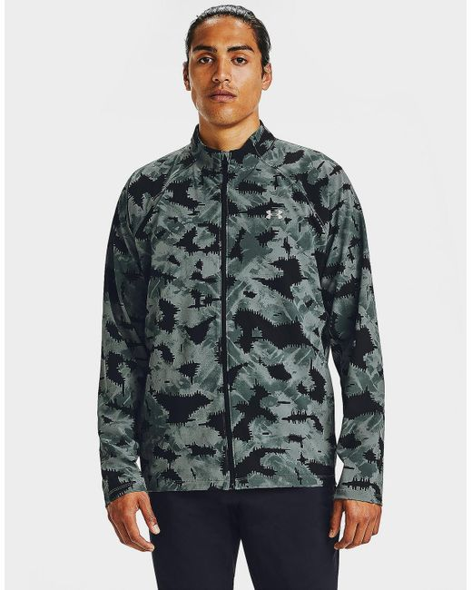 Under Armour Blue Storm Launch 3.0 Printed Jacket for men