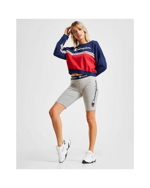Champion Gray Logo Cycle Shorts