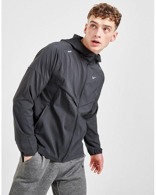 Nike Black Packable Windrunner Jacket for men
