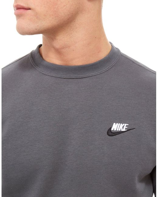 Lyst Nike Foundation Crew Sweatshirt In Gray For Men