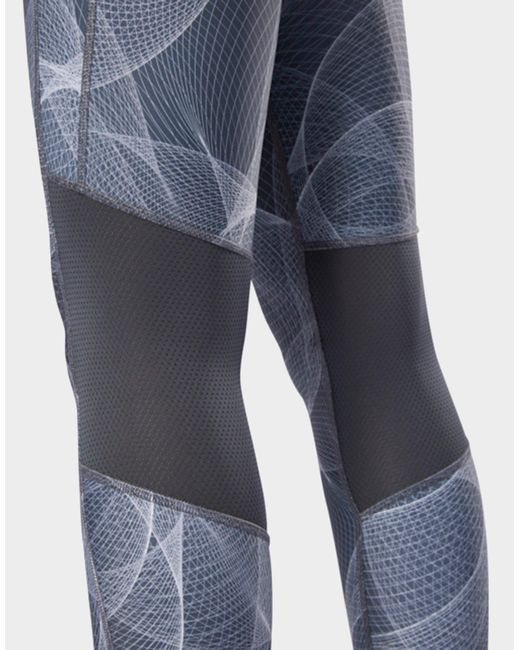 3105bc0fb71 ... Reebok - Gray Abstract Print Cropped Running Tights - Lyst ...
