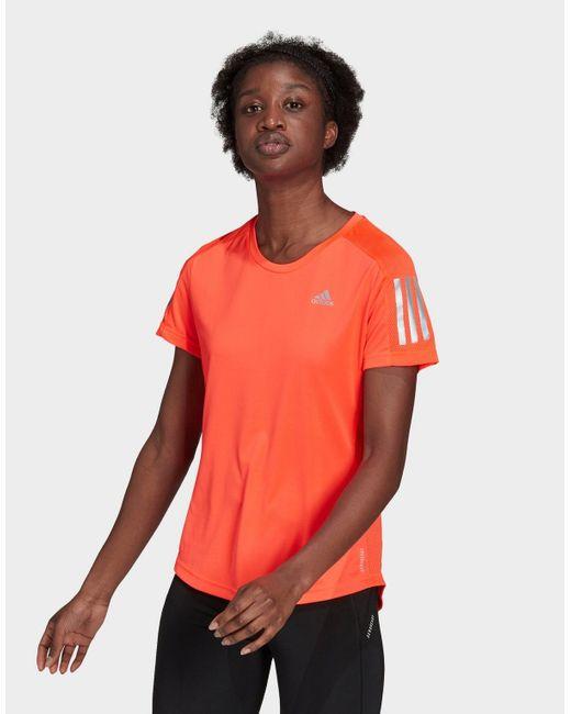 Adidas Red Own The Run T-shirt