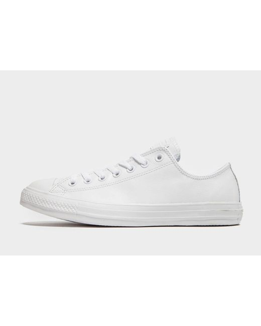 Men's White Chuck Taylor All Star Ox Leather Mono