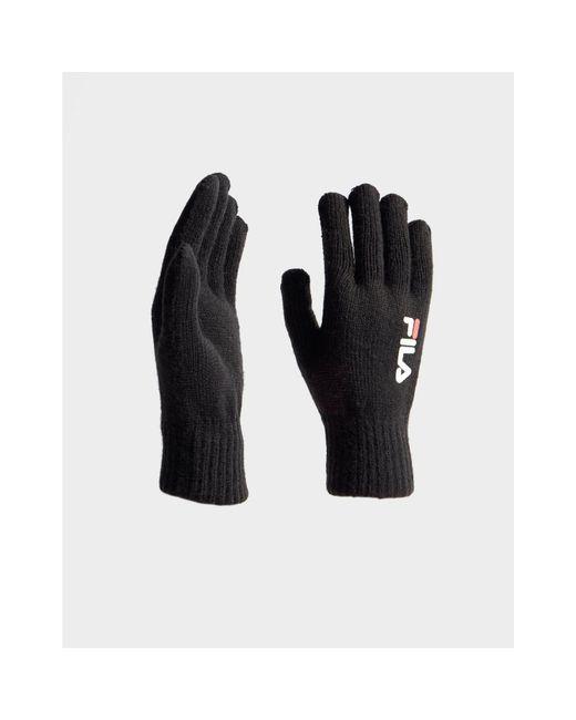 Fila Black Knit Gloves