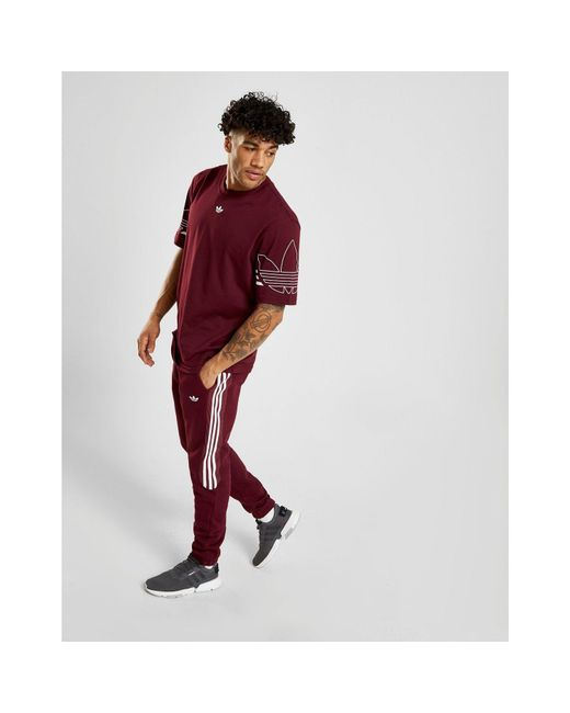 6737c72197d1 ... Adidas Originals - Red Radkin Joggers for Men - Lyst ...