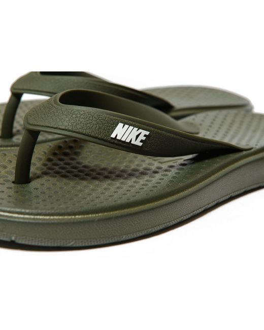 2a55b86fa758 Lyst - Nike Solay Flip Flops in Green for Men - Save 11%